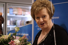 Hettie werkt al vijftig jaar als caissière bij de Albert Heijn