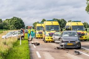 Nieuws: Vier gewonden bij frontale aanrijding op de N260