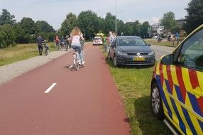 Nieuws: Vrouw zwaargewond na val met fiets